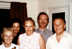 1906-1979 George, the schoolteacher, with Peggy, Meryl and Ron Harris and Janet Ford