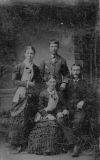 1917 Lizzie Logan, George Brigham, Rachel and Tom Shiels