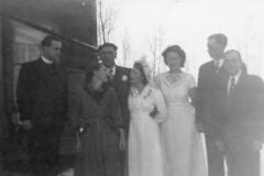 1949 Lillian and Borden Kenyon wedding