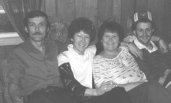 1978 Malcolm, Karen, Eva and Gerry Shiels
