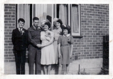 1945 George and Betty wedding
