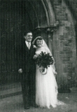 1953 David and Vi Jenkins wedding